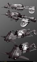 Jedi Speeder - High Poly Model