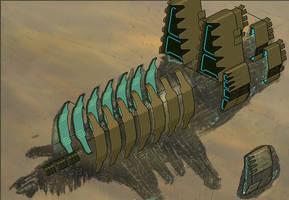 Dead Space - Pixel USG Ishimura by unusable