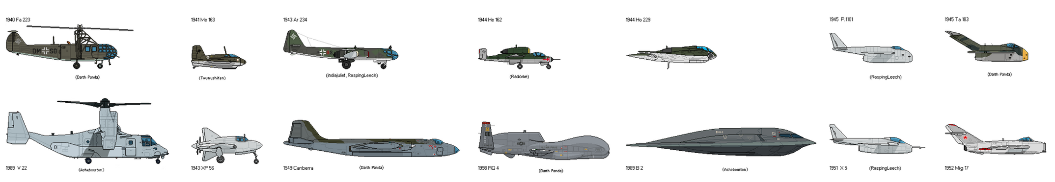 Aircraft Wunderwaffen Timeline by unusable