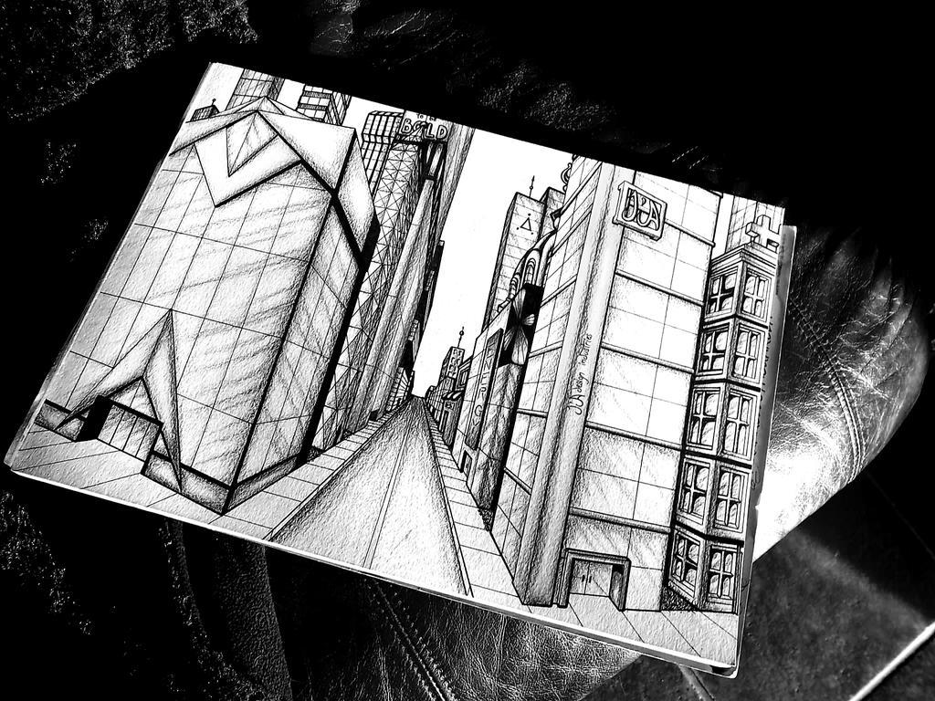 Personal city projet B and W by JoJiaMystie