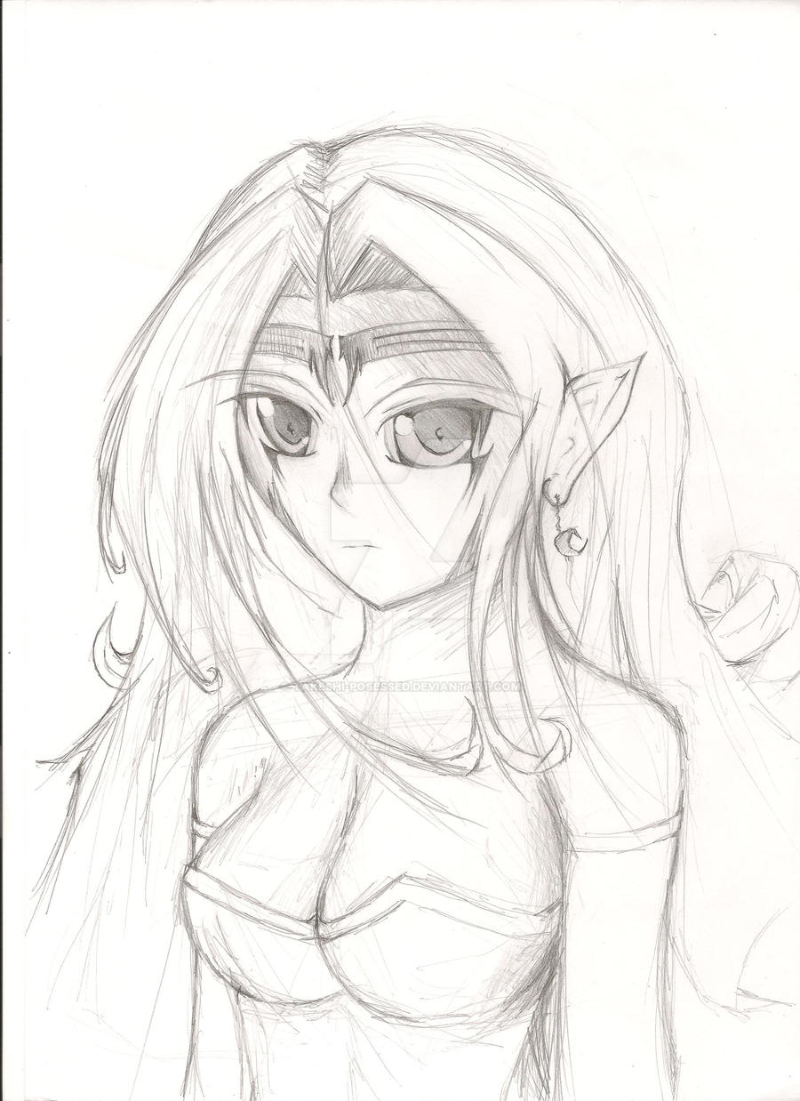 Original Drawing Elf By Takeshi Posessed On Deviantart