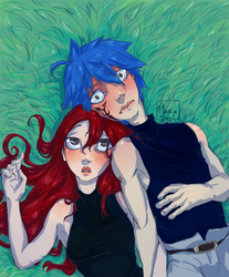 Erza-Jellal by MariaJAS