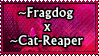 Fragdog x Cat-Reaper OTP by RigidSlut