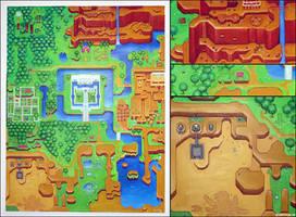 Zelda 3 map by pixel-ninja