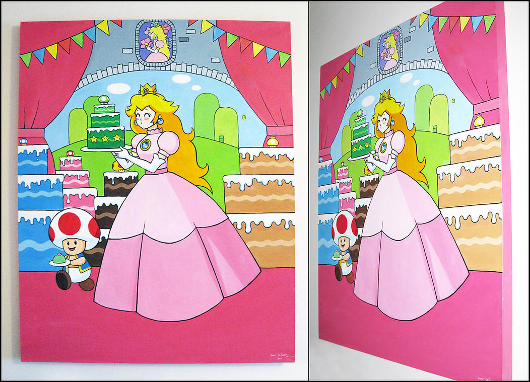 Princess Peach's sweet tooth by pixel-ninja