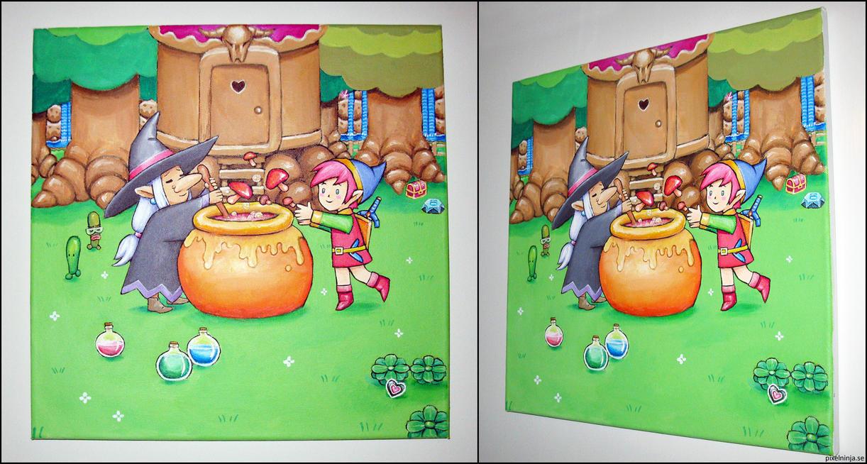 Zelda 3 Witch Shop by pixel-ninja