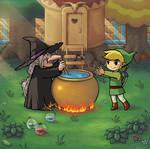 Zelda 3 potion shop