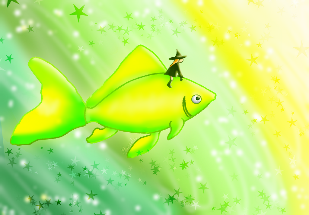 The magic fish by margieluz on deviantart for The magic fish