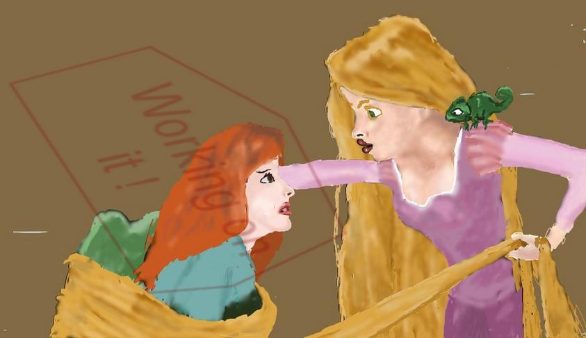 WIP - Disney Rapunzel entangles by ElrondKane
