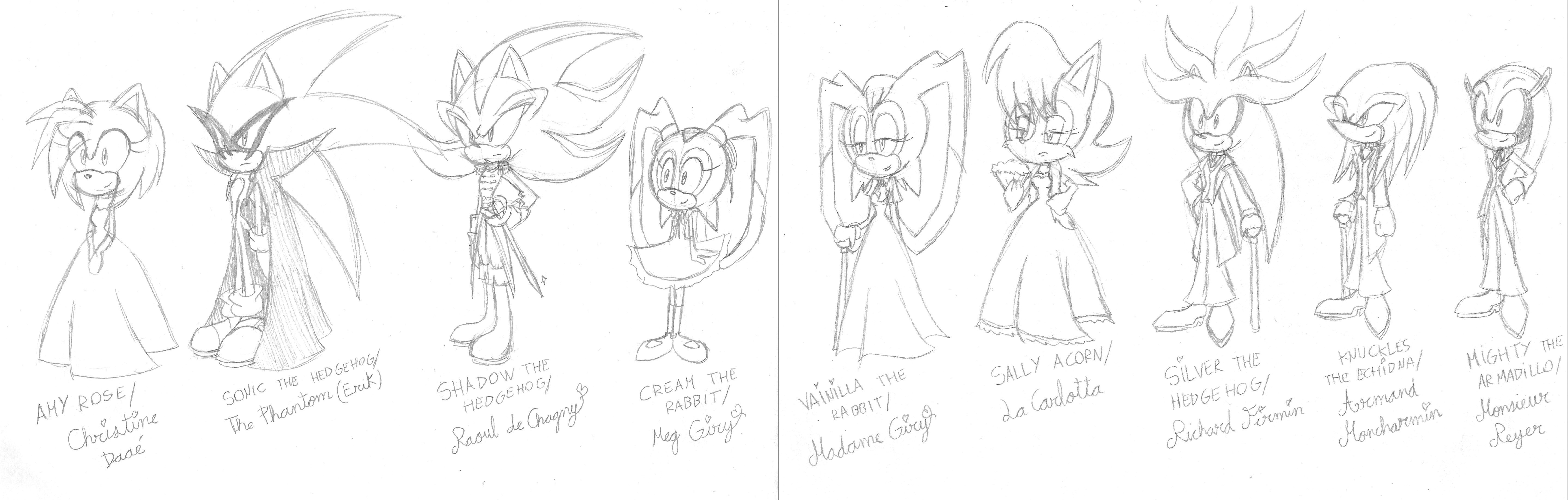 Characters in The Phantom of the Opera by SILVERtheHEDGEHOGyes