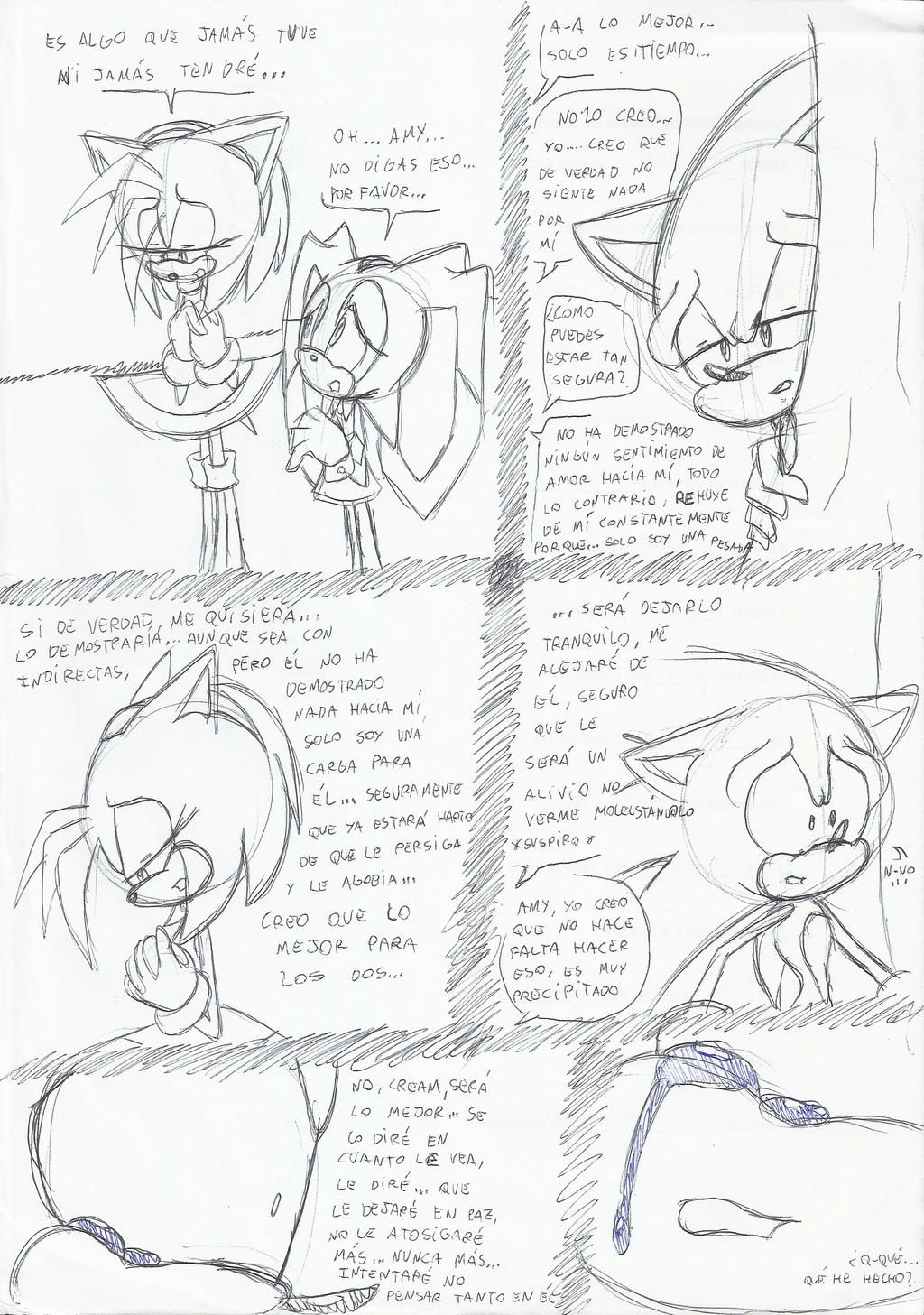 Sad mini-comic sonamy by SweetSilvy
