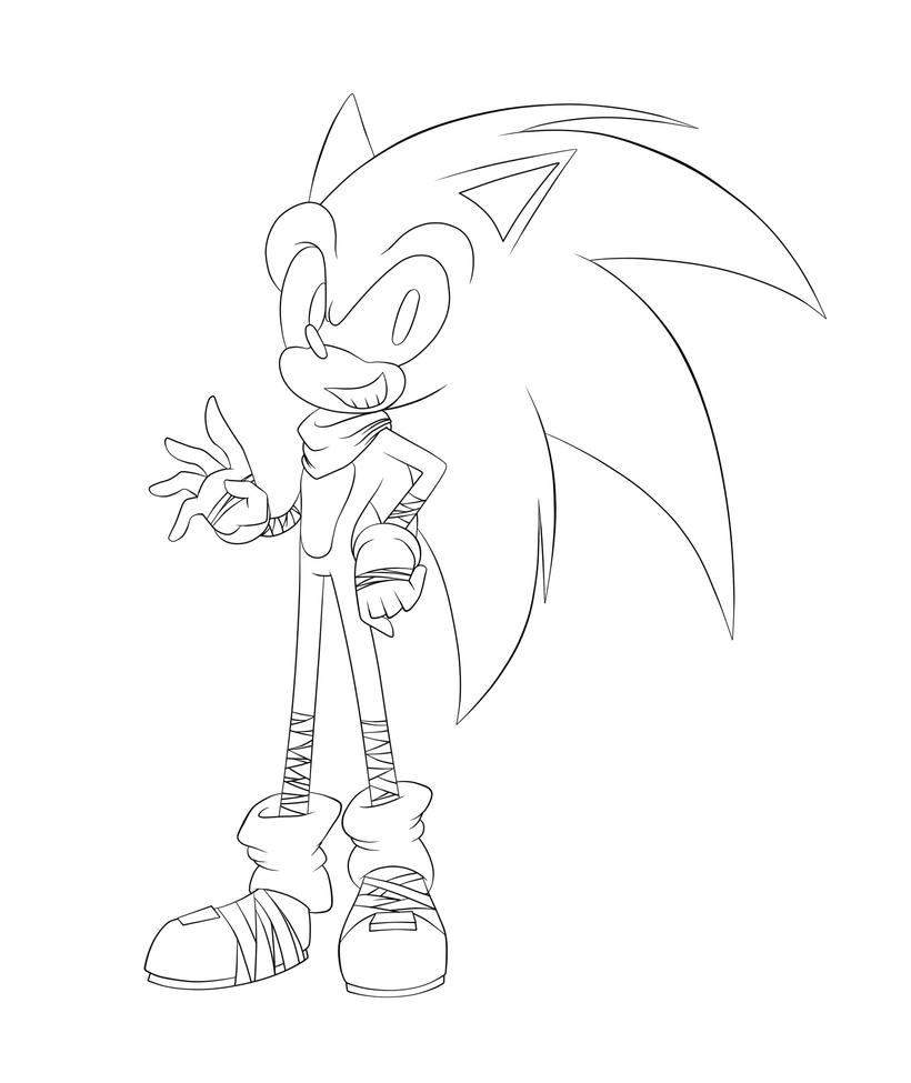 Sonic Boom :LineArt: by SweetSilvy on DeviantArt