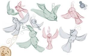 Bird Scribbles by Spodness