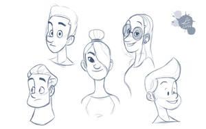 Face Doodles by Spodness
