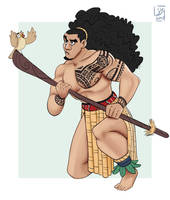 Maori Warrior Color by Spodness