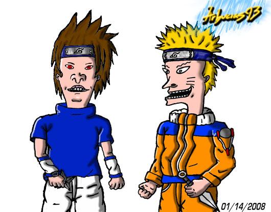 Beavis and Butthead do Naruto by Shinobi-Gambu