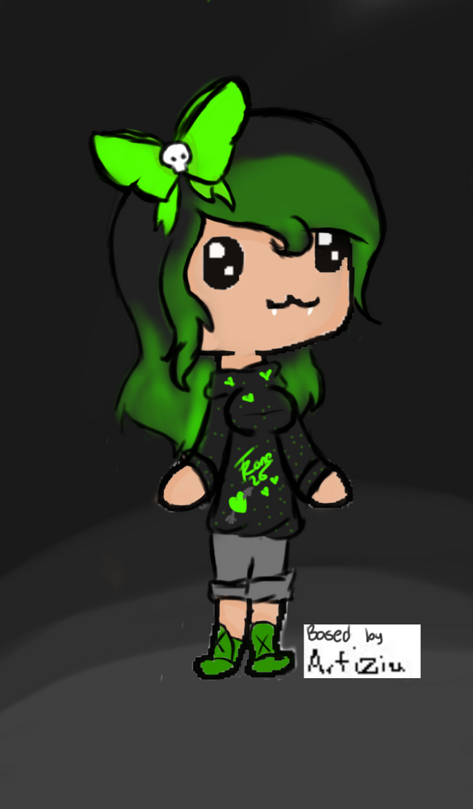 Chibi emo girl by fanzone25