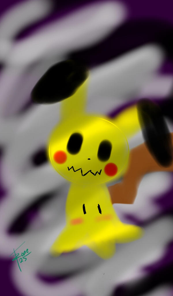 my cousin's drawing of mimikyu by fanzone25