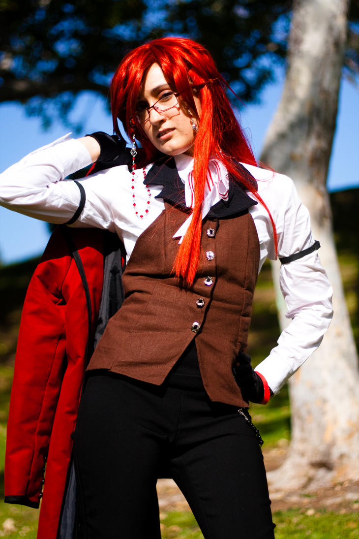 Grell - Strike a pose by BertLePhoto