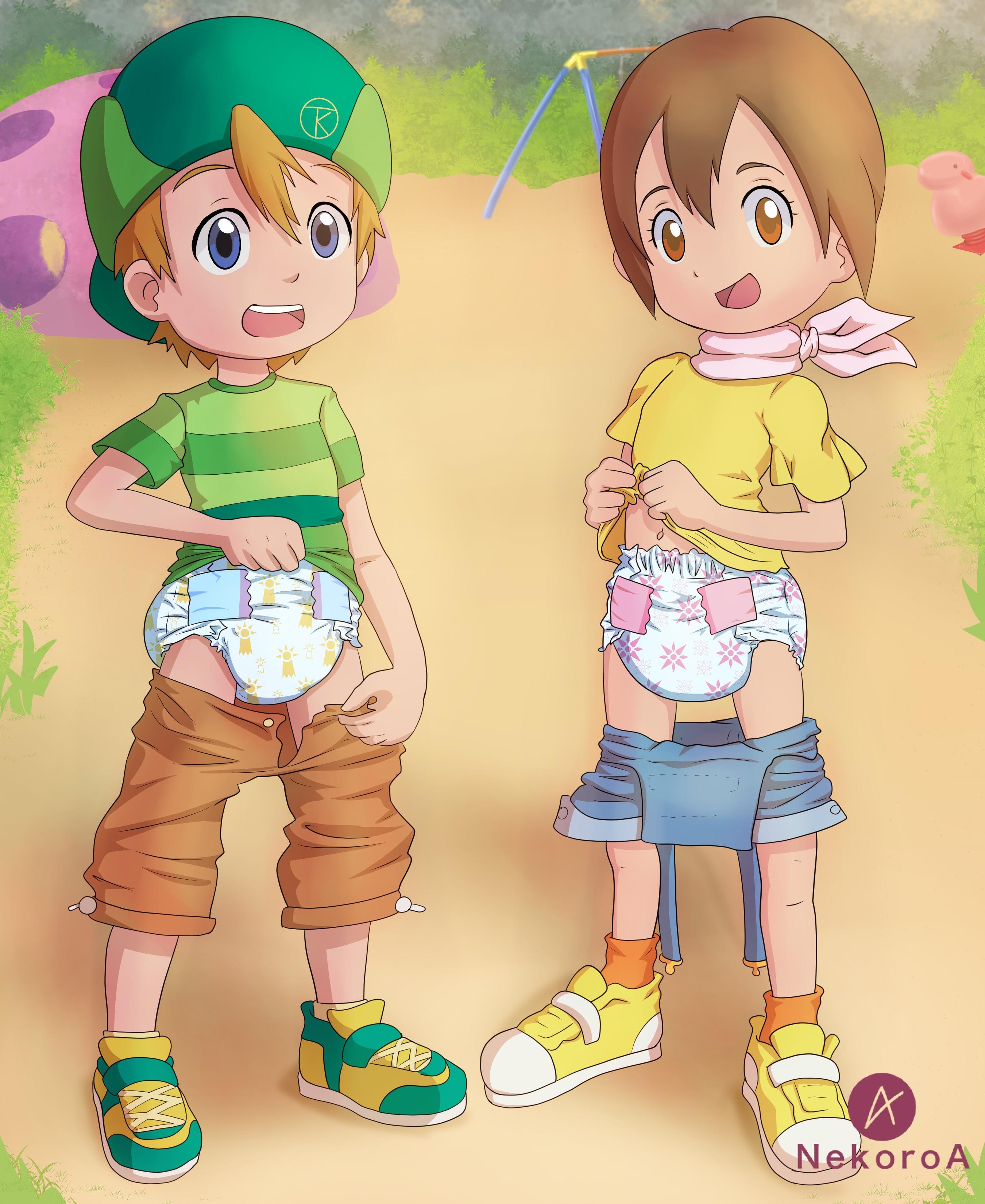 Aged TK and Kari by Sakuma-kantoku on DeviantArt