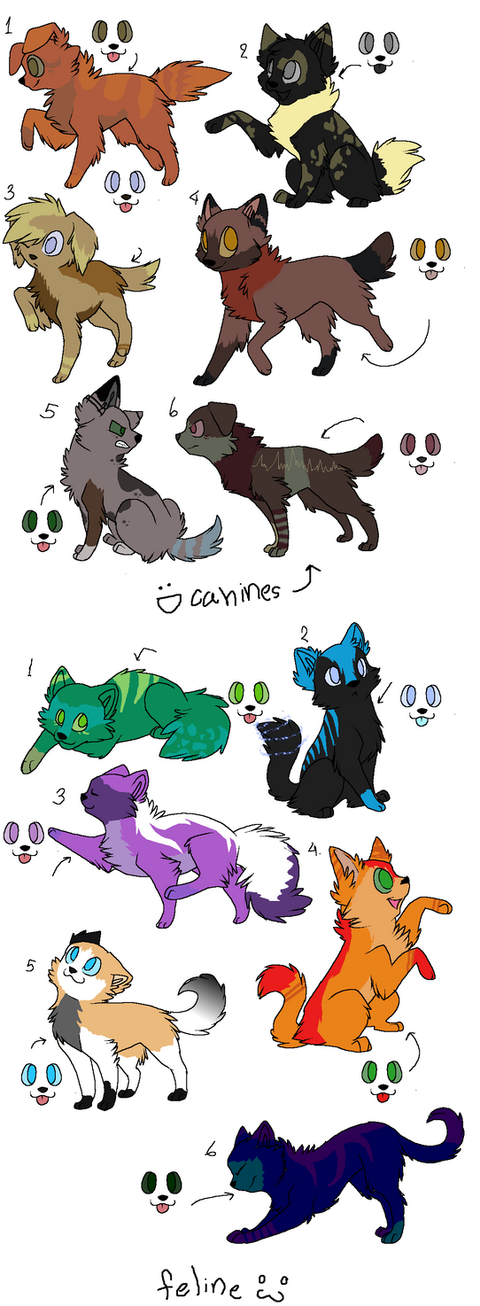 adoptables by poisonflame