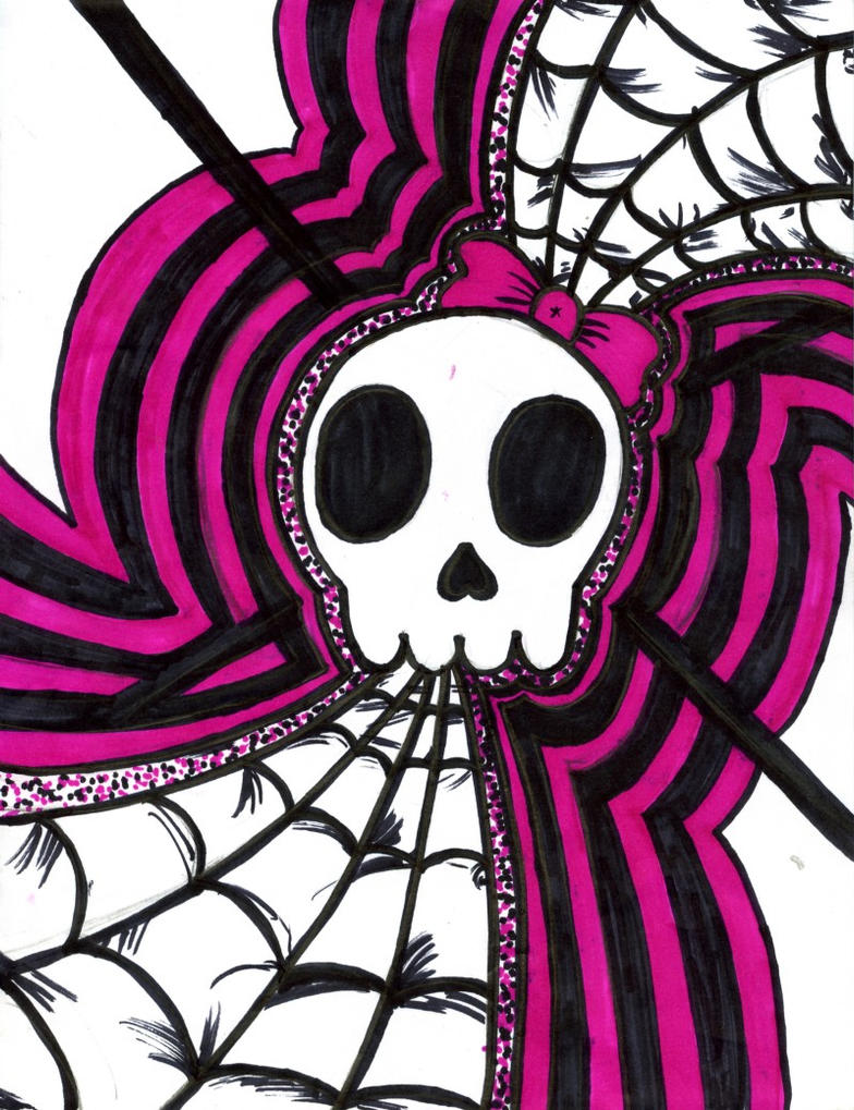 girly skull by disenchanted7 on deviantart