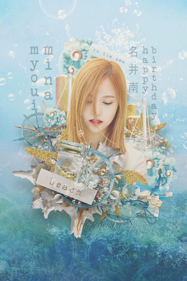 happy birthday - myoui mina by karinecucheoo