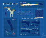Dragon Aircraft - Fighter class reference sheet by Lizardsaurus