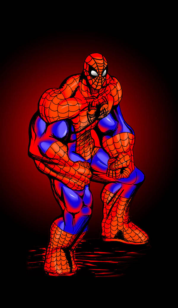 Muscle growth spider man