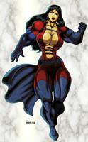 Buff Superhero Lady by hulkdaddyg