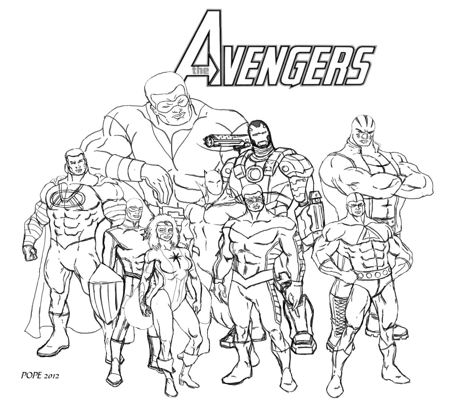 The Avengers Wip By Hulkdaddyg On DeviantArt