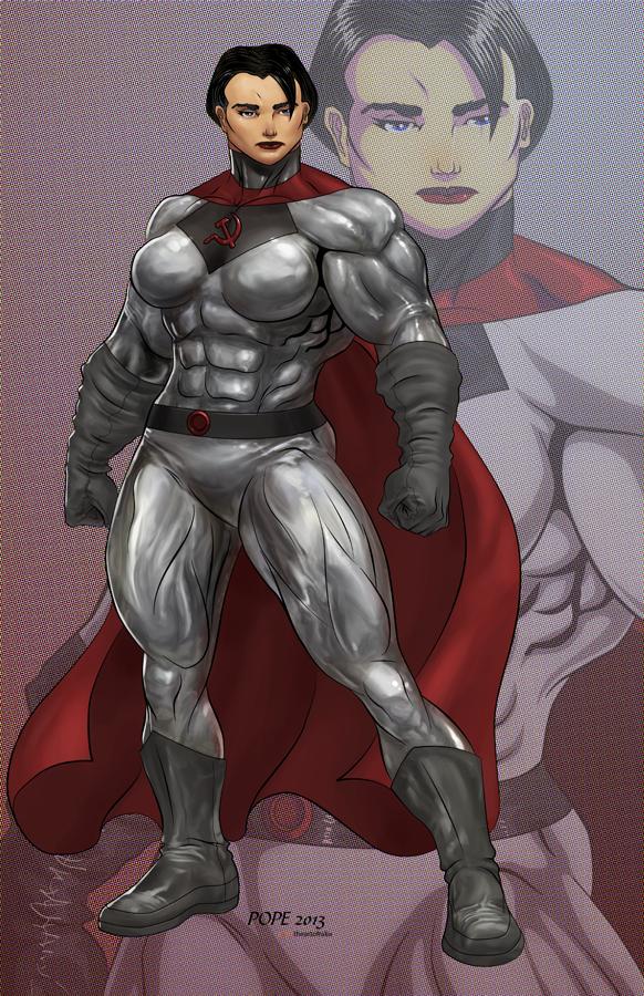 Soviet Superwoman Olga by hulkdaddyg