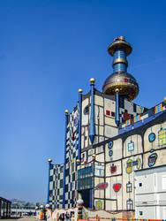 Wien, Spittelau Waste Incineration Plant - Stock