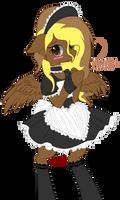 Neko with a maid drees by floodyprincess