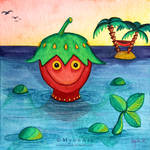 The Strawberry Monster by MyonArt