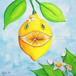 Laughing Lady Lemon by MyonArt