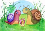 Snail Family by MyonArt