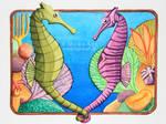 Sea Horses in Love by MyonArt