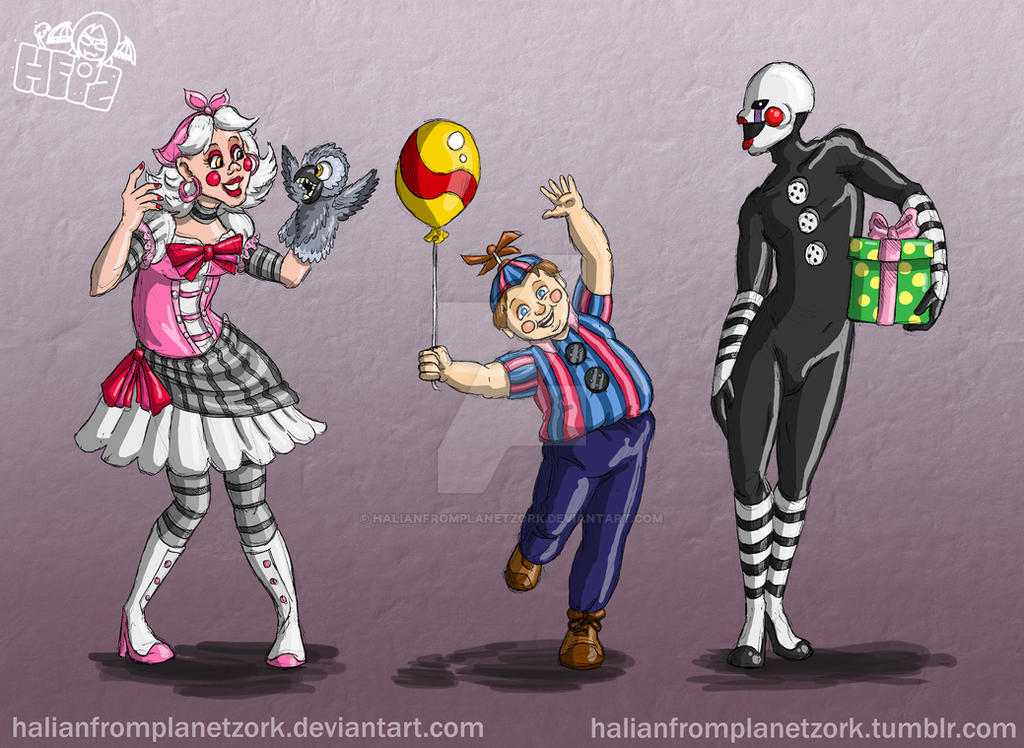 Fnaf human toy team 2 by halianfromplanetzork on deviantart