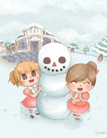Winter in animal crossing by Mikami-Drawing