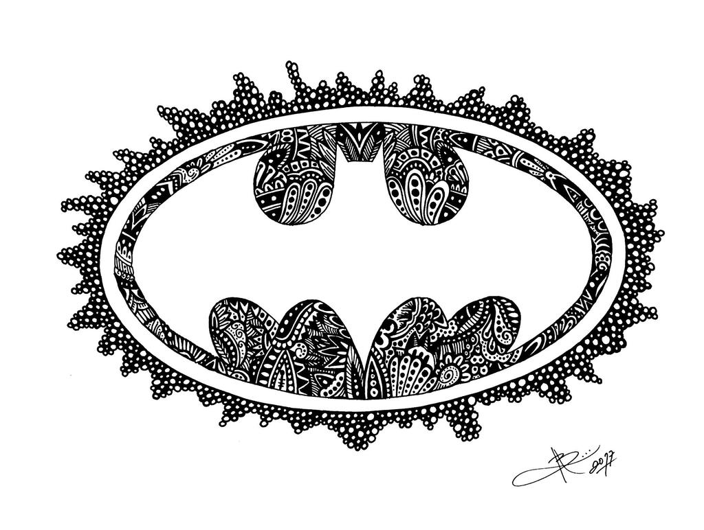 Batman Zentangle  by ByVArte
