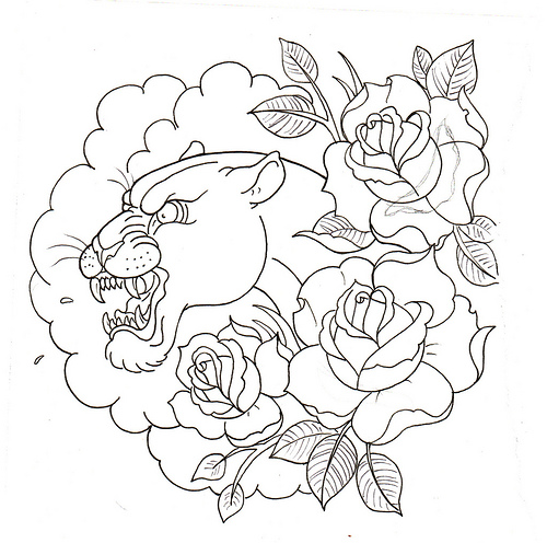 Traditional Tattoo Line Drawing : Pin gargoyle tattoo line art wings tattoos on pinterest