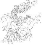 Goldfish and Dragon