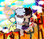 what if we kissed in a split storytelli background