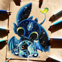 Space Fantasy Toothless by SkyKristal