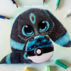 Galaxy cat umbreon by SkyKristal