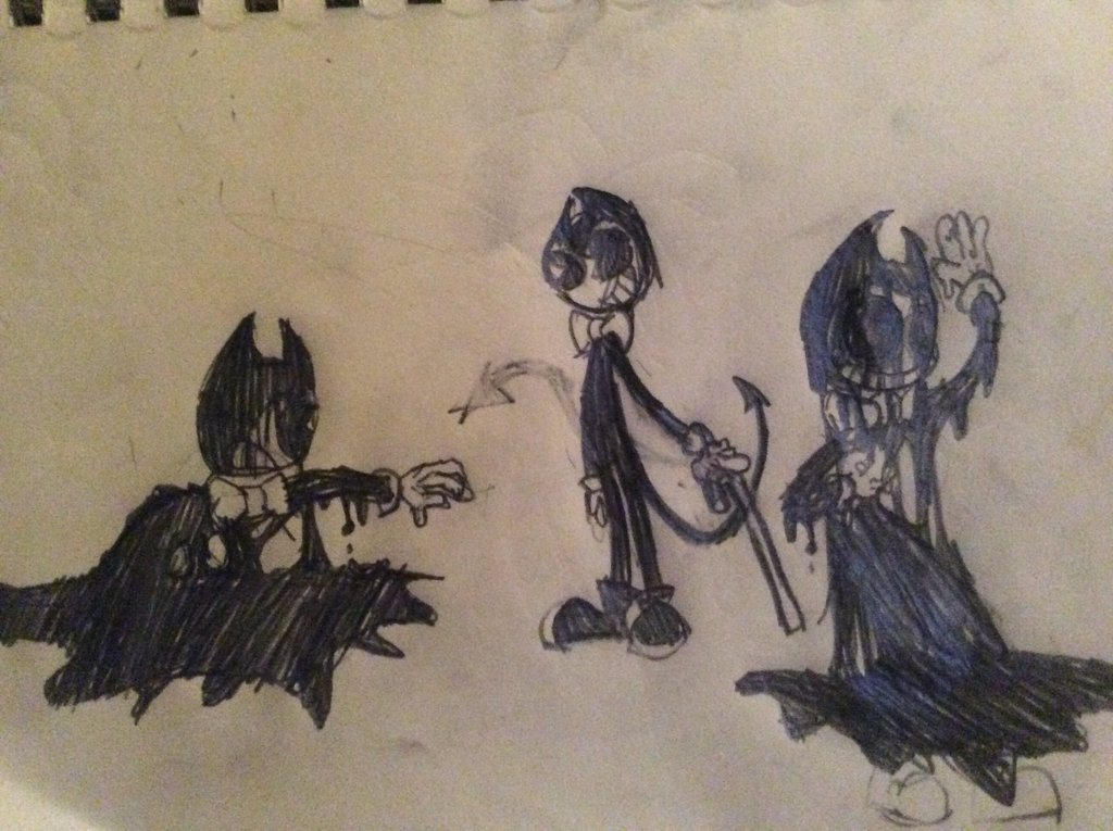 Bendy sketches by Scratcheteer