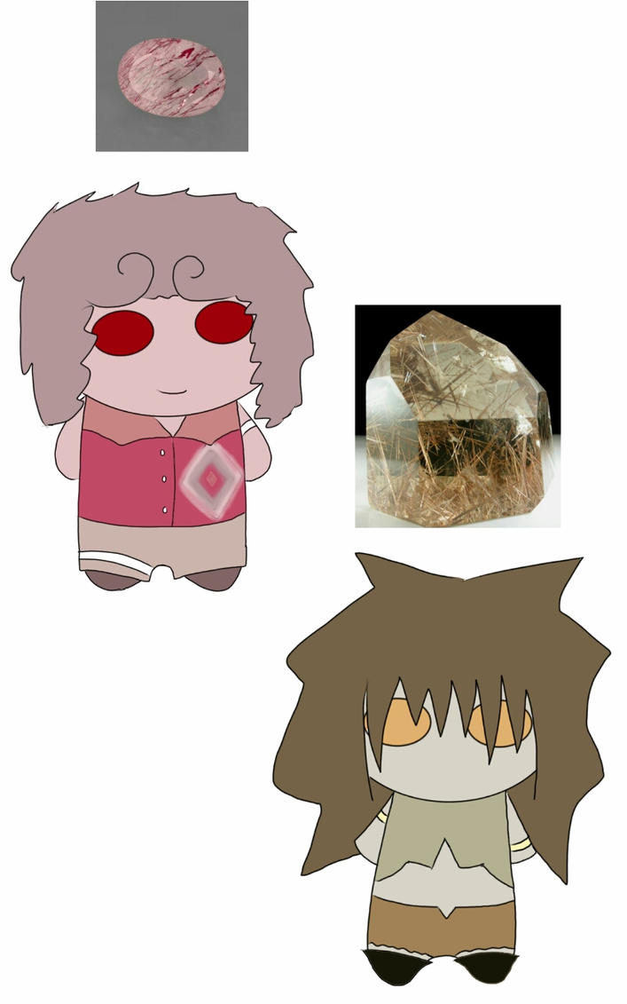 Strawberry Quartz and Rutilated Quartz (E-C Fails) by Espa-Chi
