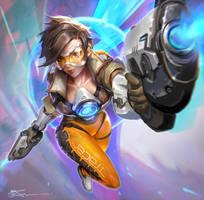 Overwatch Tracer FanArt by JeremyChong