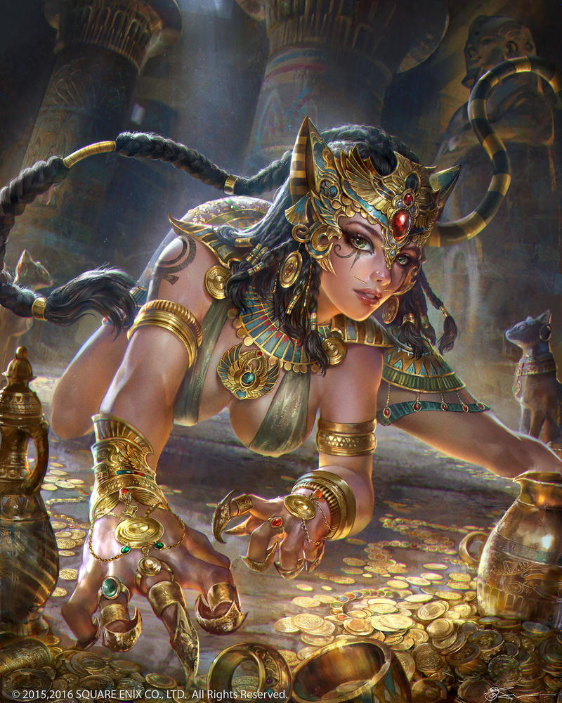 bast Bastet - by JeremyChong DeviantArt (2016-2017) © Square Enix Co., LTD.